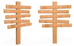Placa de madeira do sinal do estilo dos desenhos animados Foto de Stock Royalty Free