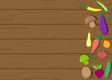 Placa de madeira dos vegetais Foto de Stock