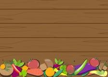 Placa de madeira dos vegetais Fotos de Stock Royalty Free