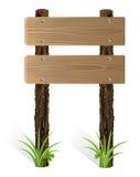Placa de madeira em branco do sinal Fotos de Stock Royalty Free