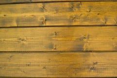 Placa de madeira envernizada parede Fotografia de Stock Royalty Free