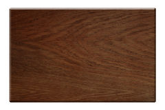 Placa de madeira escura isolada com trajeto de grampeamento Fotos de Stock Royalty Free