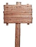 Placa de madeira idosa Fotografia de Stock