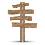 Placa de madeira idosa ilustração royalty free