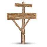 Placa de madeira idosa ilustração do vetor