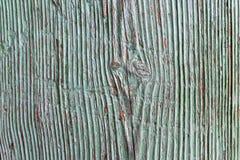 Placa de madeira natural pintada e afligida Imagem de Stock