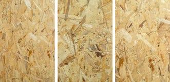 Placa de madeira OSB da construção - verso imagem de stock royalty free
