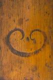 Placa de madeira pintada idosa Fotografia de Stock