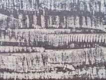 Placa de madeira pintada velha, clolse acima da superfície de madeira foto de stock royalty free