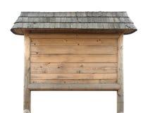 Placa de madeira rústica Imagem de Stock Royalty Free