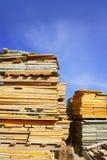 Placa de madeira shuttering do molde empilhada Foto de Stock Royalty Free
