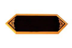 Placa de madeira tailandesa vazia Imagens de Stock