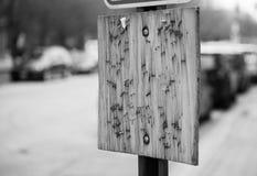 Placa de madeira vazia fotografia de stock