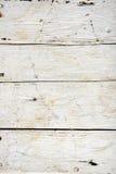 Placa de madeira velha pintada branca Imagem de Stock