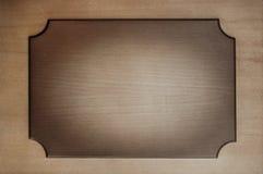 Placa de madera, tablero de la muestra, placa de muestra, diario sensacionalista Foto de archivo