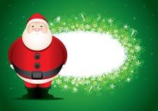 Placa de mensagem de Santa. Imagem de Stock Royalty Free