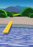 Placa de mergulho Imagens de Stock