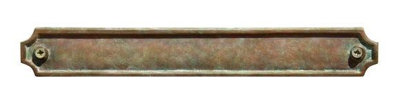 Placa de metal foto de archivo libre de regalías