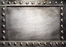 Placa de metal Imagem de Stock Royalty Free