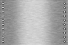 Placa de metal Fotografia de Stock