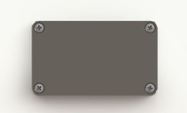 Placa de metal com parafusos Fotografia de Stock