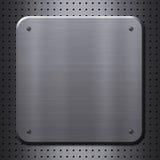 Placa de metal com rebites Imagens de Stock