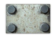 Placa de metal com rebites Foto de Stock Royalty Free