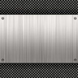 Placa de metal da fibra do carbono Fotos de Stock Royalty Free