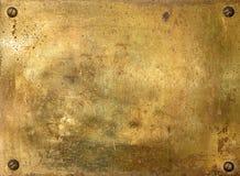Placa de metal de bronze brilhante Fotografia de Stock