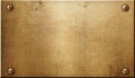 Placa de metal de cobre amarillo imágenes de archivo libres de regalías