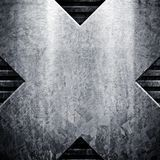 Placa de metal de Grunge ilustração royalty free