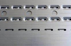 Placa de metal de Perfored Imagem de Stock