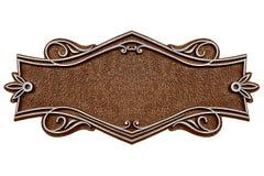 Placa de metal del molde del vintage aislada en el fondo blanco Imagen de archivo libre de regalías