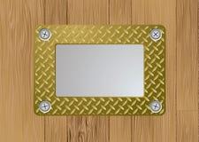 Placa de metal del oro ilustración del vector