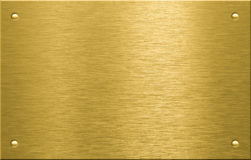 Placa de metal do bronze ou do bronze com rebites Fotos de Stock Royalty Free