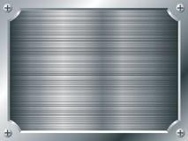 Placa de metal en blanco Foto de archivo