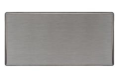 Placa de metal escovada Foto de Stock