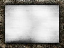 Placa de metal no fundo do grunge ilustração royalty free