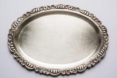 Placa de metal o bandeja o escudo de plata tradicional india fotografía de archivo