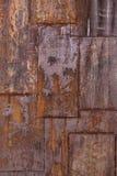 Placa de metal oxidada fotos de stock