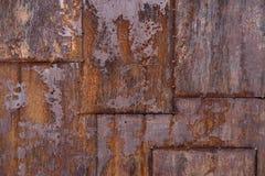 Placa de metal oxidada fotografia de stock royalty free