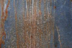 Placa de metal oxidada para el fondo Foto de archivo libre de regalías