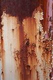 Placa de metal oxidada velha que muda de branco à cor vermelha Imagem de Stock