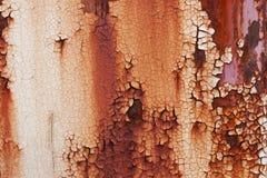 Placa de metal oxidada velha que muda de branco à cor vermelha Imagens de Stock