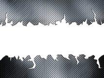 Placa de metal rachada do diamante Fotografia de Stock