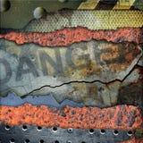 Placa de metal rasgada Grunge Fotografia de Stock Royalty Free