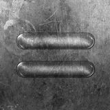 Placa de metal redonda fotografía de archivo