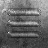 Placa de metal redonda fotos de archivo