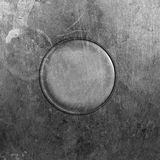 Placa de metal redonda fotografía de archivo libre de regalías