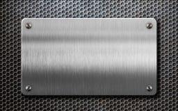 Placa de metal sobre el ejemplo del fondo 3d del peine fotografía de archivo libre de regalías